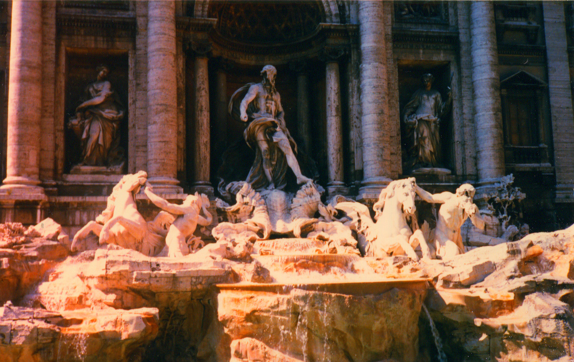 The Fountain of Trevi, Rome, Italy.